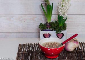 image de recette facile, rapide, bio, légère de Kilomètre-0, velouté de navets aux noisettes, soupe, potage, légumes, hiver