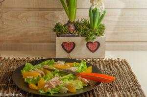 image de recette facile, rapide, légère, de Salade de raie à l'orange, de Kilomètre-0, poisson, agrumes
