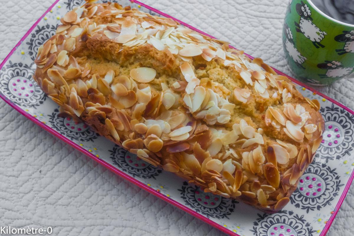 image de recette facile, rapide, légère, bio de Kilomètre-0, de cake à l'orange et aux amandes