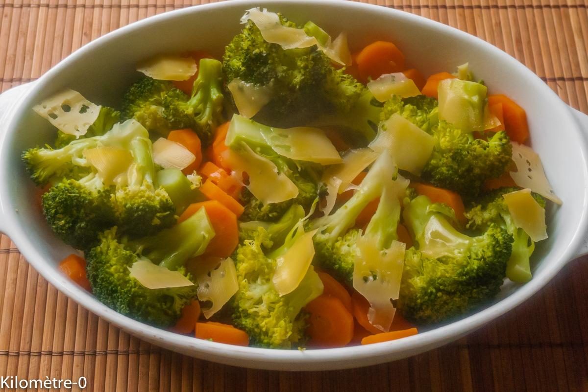 image de recette de gratin de brocolis et carottes, légumes, bio, facile, rapide, healthy, végétarien, de Kilomètre-0
