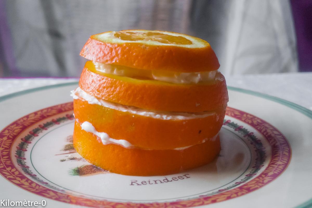 image de recette de Kilomètre-0, facile, rapide, légère, bio de millefeuille d'oranges