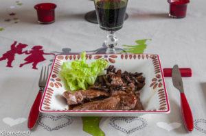 canard aux cèpes sauce caramel de Kilomètre-0, blog de cuisine, maison, rapide, léger, facile,