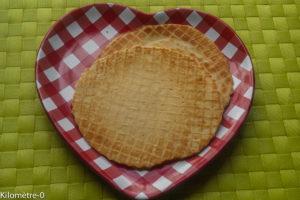 Photo de recette de gaufrettes, facile, rapide, légère, dessert, cones de glace maison de Kilomètre-0, blog de cuisine réalisée à partir de produits locaux et issus de circuits courts