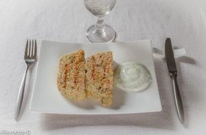 Photo de recette de terrine aux deux saumons de Kilomètre-0, blog de cuisine réalisée à partir de produits locaux et issus de circuits courts