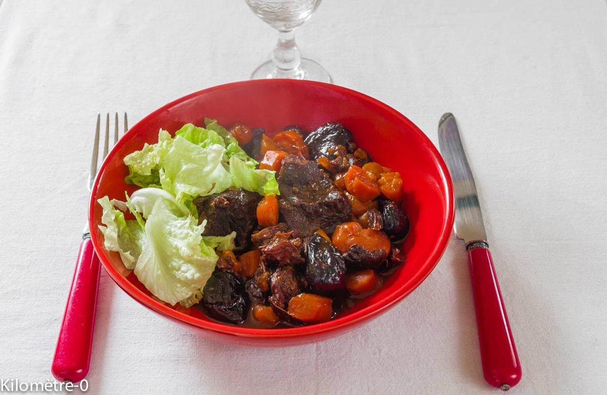 Photo de recette de boeuf mode de Kilomètre-0, blog de cuisine réalisée à partir de produits locaux et issus de circuits courts