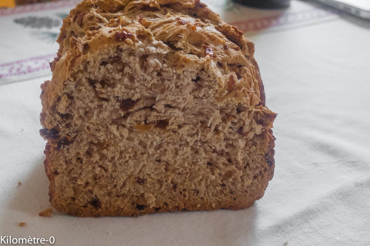 Photo de recette de pain raisins et noix de Kilomètre-0, recette machine à pain, facile, blog de cuisine réalisée à partir de produits locaux et issus de circuits courts