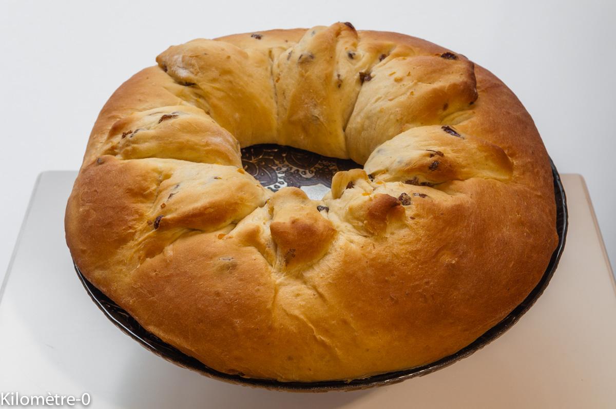 Photo de recette de brioche des rois de Kilomètre-0, blog de cuisine réalisée à partir de produits locaux et issus de circuits courts