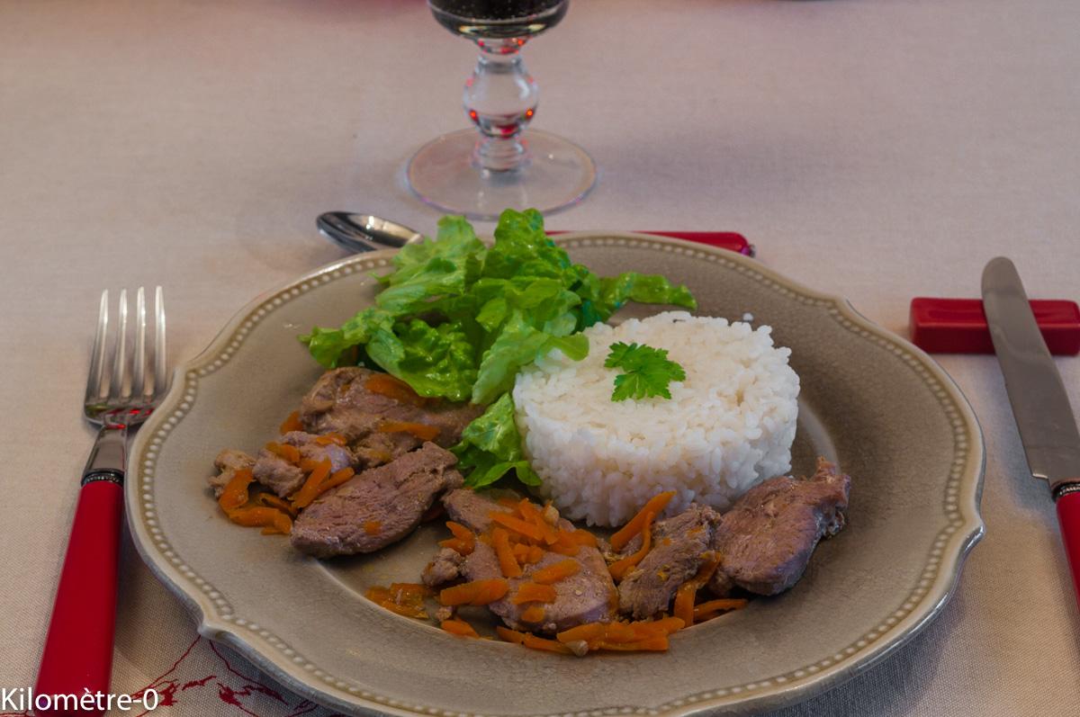 Photo de recette de magret canard marinade soja gingembre de Kilomètre-0, blog de cuisine réalisée à partir de produits locaux et issus de circuits courts