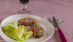 Photo de recette de roulé facile de pomme de terre de Kilomètre-0, blog de cuisine réalisée à partir de produits locaux et issus de circuits courts
