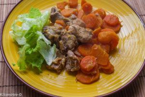 Photo de recette d'échine de porc carottes de Kilomètre-0, blog de cuisine réalisée à partir de produits locaux et issus de circuits courts