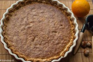 Photo de recette de tarte noisette de Kilomètre-0, blog de cuisine réalisée à partir de produits locaux et issus de circuits courts