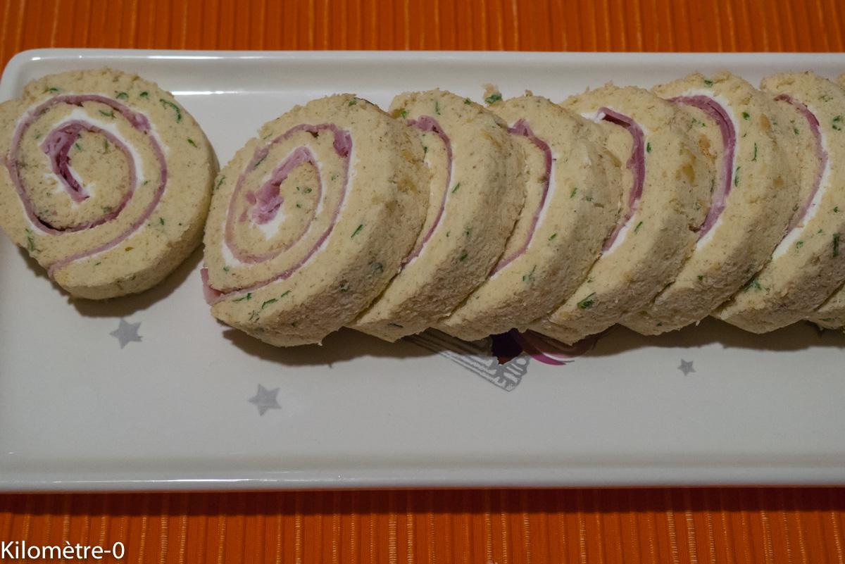 Photo de recette de roulé apéro jambon fromage de Kilomètre-0, blog de cuisine réalisée à partir de produits locaux et issus de circuits courts