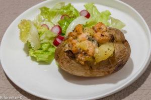 Photo de recette de pomme de terre au four  de Kilomètre-0, blog de cuisine réalisée à partir de produits locaux et issus de circuits courts