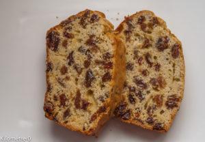 Photo de recette de cake, facile, rapide,  gâteau aux raisins de Kilomètre-0, blog de cuisine réalisée à partir de produits locaux et issus de circuits courts