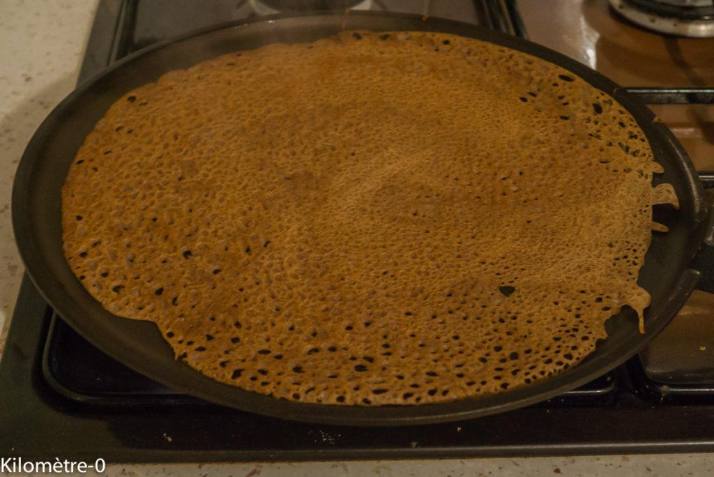 Photo de recette de galette de sarrasin, facile, légère, bio, bretonne, Bretagne de Kilomètre-0, blog de cuisine réalisée à partir de produits locaux et issus de circuits courts