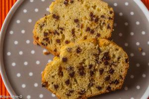 Photo de recette facile, de gateau pépites chocolat Kilomètre-0, blog de cuisine réalisée à partir de produits locaux et issus de circuits courts