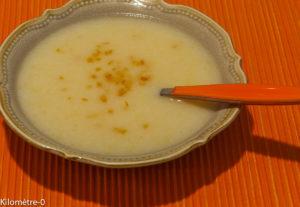 Photo de recette facile de soupe de chou fleur à l'orange de Kilomètre-0, blog de cuisine réalisée à partir de produits locaux et issus de circuits courts