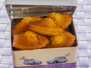Photo de recette facile, rapide, légère de  de madeleines de Kilomètre-0, blog de cuisine réalisée à partir de produits locaux et issus de circuits courts