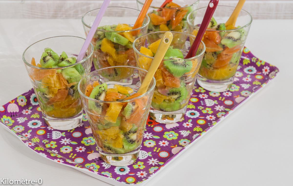 Photo de recette de verrine apéro de Kilomètre-0, blog de cuisine réalisée à partir de produits locaux et issus de circuits courts