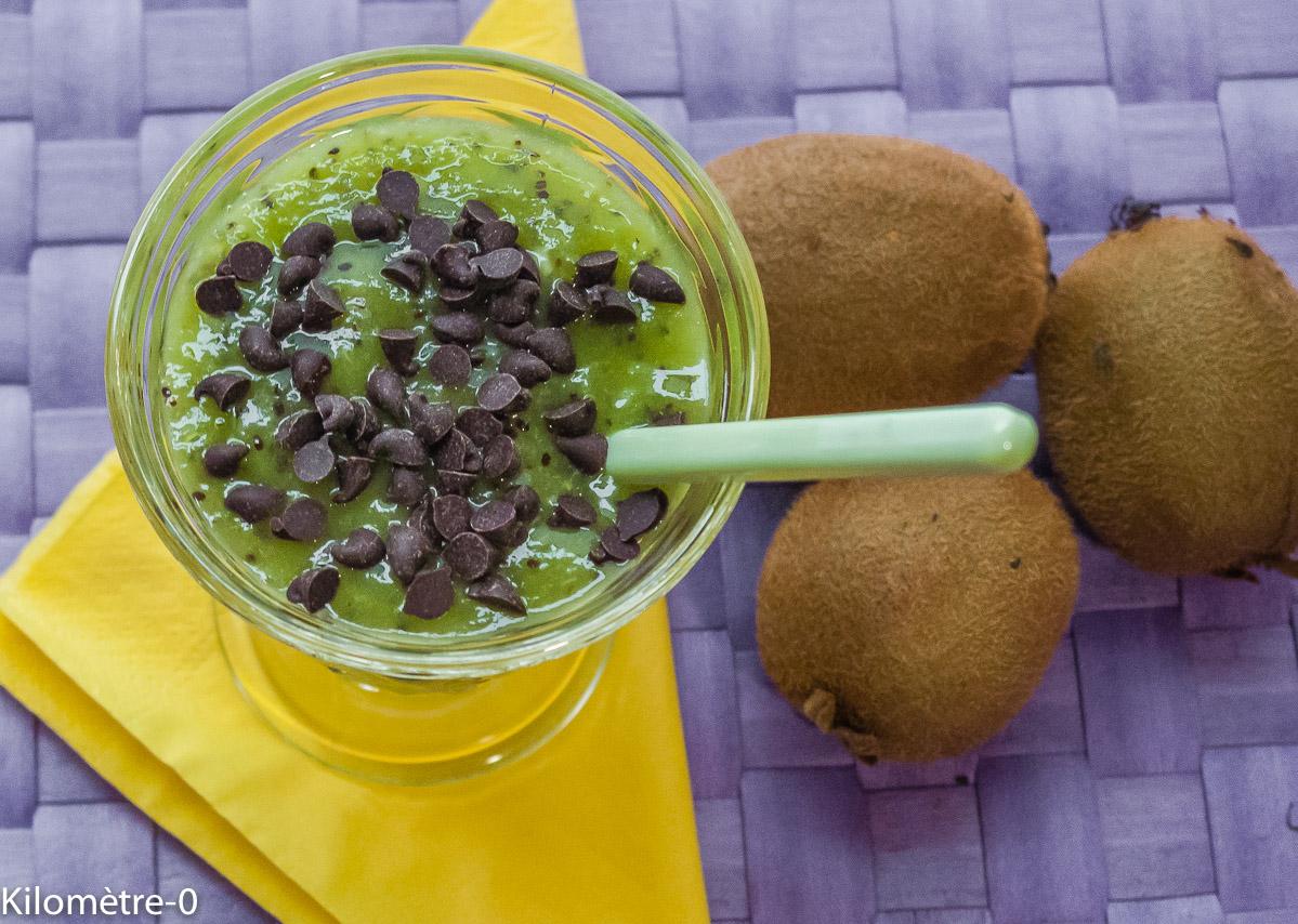 Photo de recette de soupe de kiwis de Kilomètre-0, blog de cuisine réalisée à partir de produits locaux et issus de circuits courts