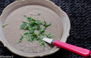 Photo de recette de soupe facile, rapide de champignons de Kilomètre-0, blog de cuisine réalisée à partir de produits locaux et issus de circuits courts