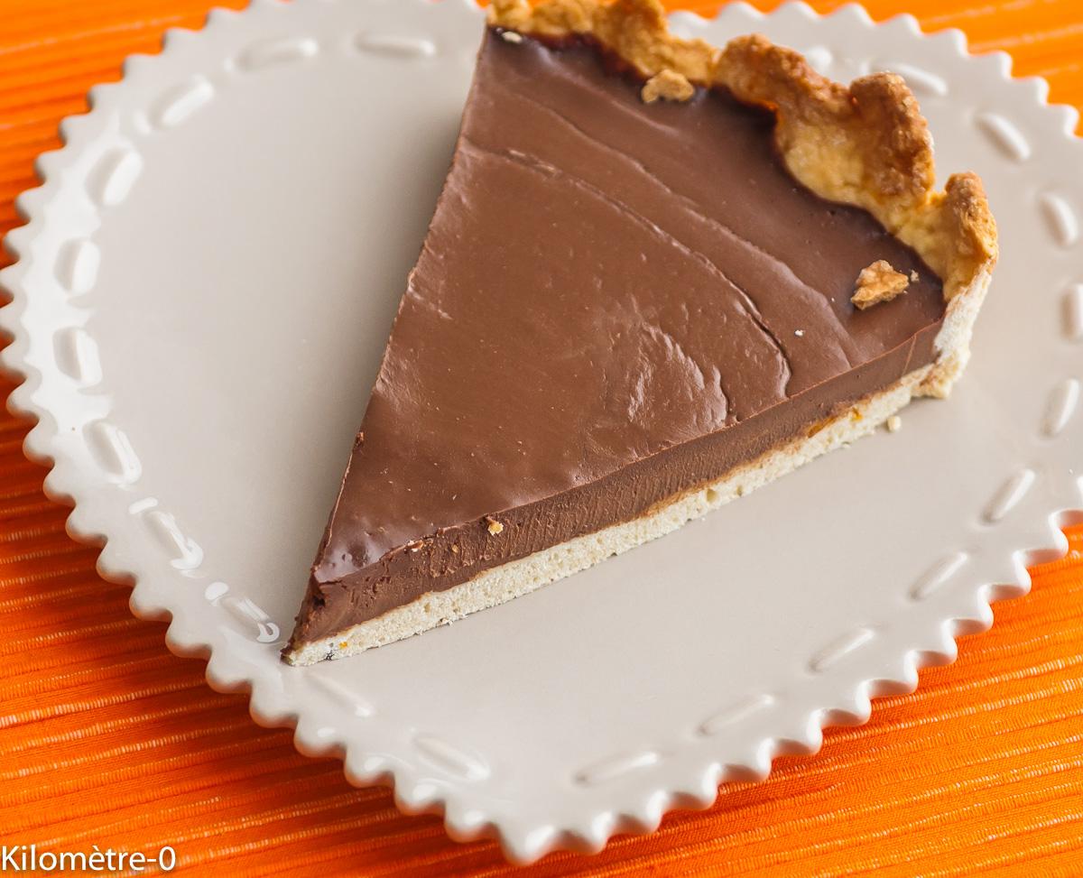 Photo de recette de tarte au chocolat de Kilomètre-0, rapide, facile, pas cher du blog de cuisine réalisée à partir de produits locaux et issus de circuits courts