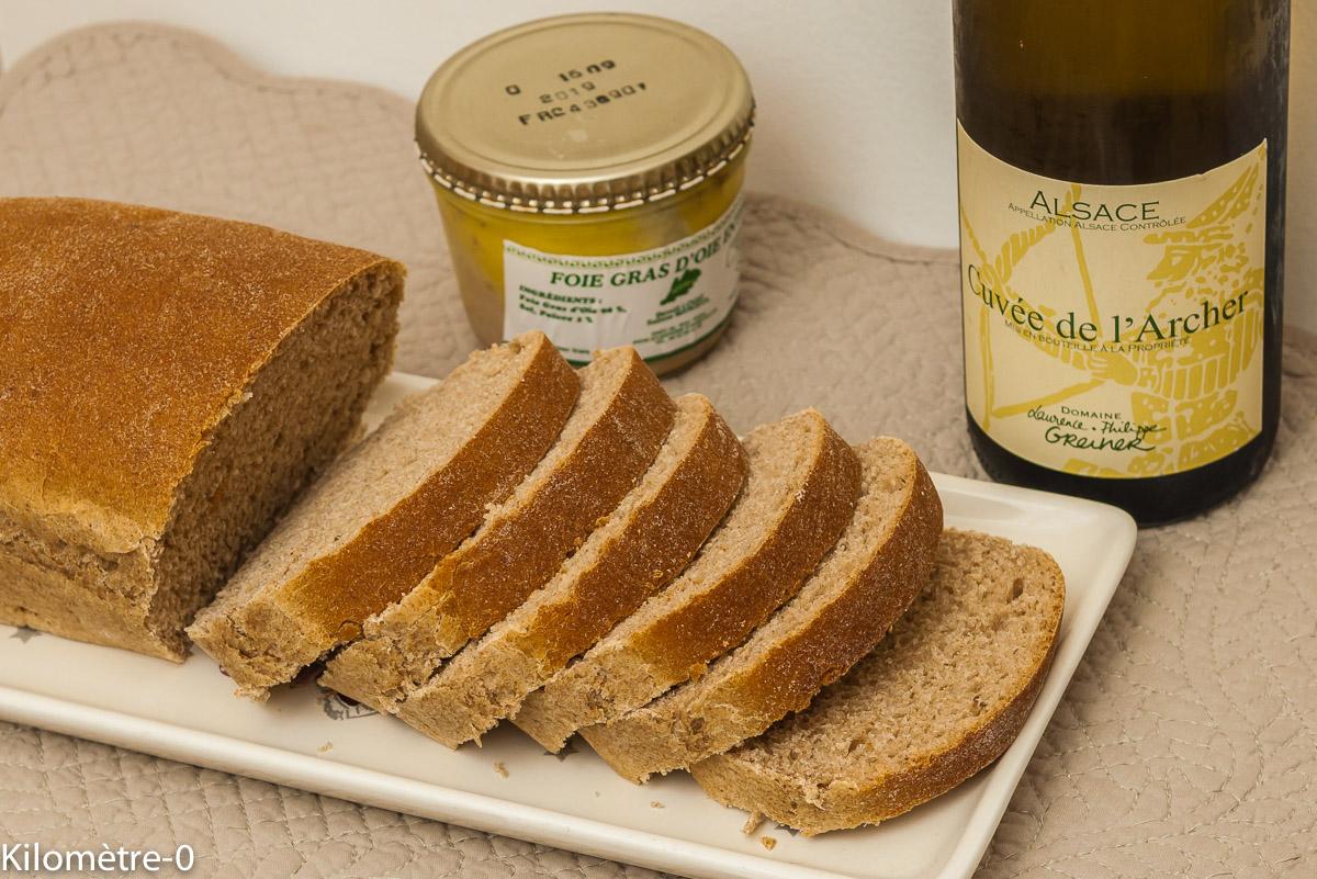 Photo de recette de pain d'épices brioché de Kilomètre-0, blog de cuisine réalisée à partir de produits locaux et issus de circuits courts