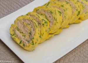 Photo de recette de roulé à la mousse de thon de Kilomètre-0, blog de cuisine réalisée à partir de produits locaux et issus de circuits courts