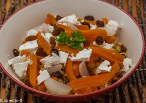 Photo de recette végétarienne, facile, healty, bio de salade de pois chiche de Kilomètre-0, blog de cuisine réalisée à partir de produits locaux et issus de circuits courts