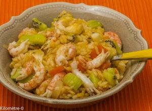 Photo de recette de  risotto, facile, healthy, riz , ananas, fruits , kiwi de Kilomètre-0, blog de cuisine réalisée à partir de produits locaux et issus de circuits courts