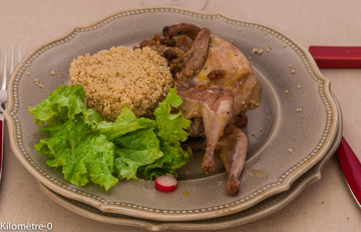 Photo de recette de cailles aux raisins et à l'orange de Kilomètre-0, blog de cuisine réalisée à partir de produits locaux et issus de circuits courts