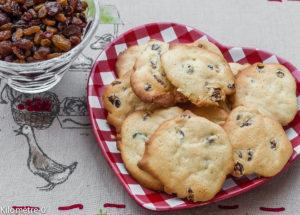 Photo de recette de palets aux raisins de Kilomètre-0, blog de cuisine réalisée à partir de produits locaux et issus de circuits courts