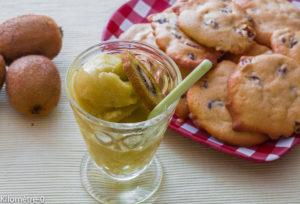 Photo de recette de sorbet kiwi de Kilomètre-0, blog de cuisine réalisée à partir de produits locaux et issus de circuits courts