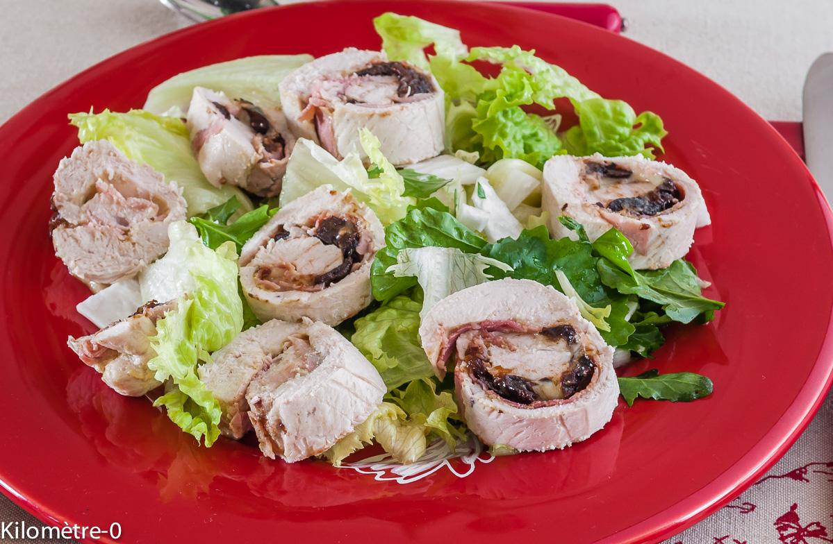 Photo de recette d'escalope roulée de poulet de Kilomètre-0, blog de cuisine réalisée à partir de produits locaux et issus de circuits courts