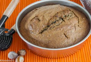 Photo de recette facile, rapide de gateau aux noisettes et citron de Kilomètre-0, blog de cuisine réalisée à partir de produits locaux et issus de circuits courts