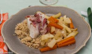 Photo de recette de couscous de cabillaud de Kilomètre-0, blog de cuisine réalisée à partir de produits locaux et issus de circuits courts