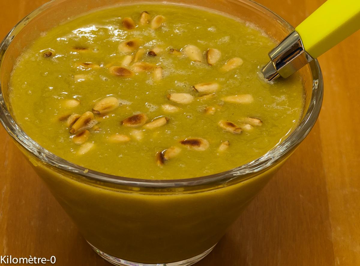 Photo de recette de soupe de pois cassés de Kilomètre-0, blog de cuisine réalisée à partir de produits locaux et issus de circuits courts