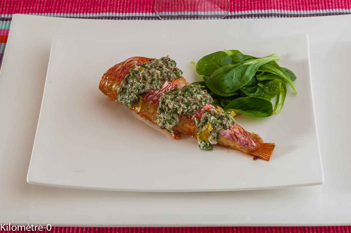 Photo de recette facile de rougets grillés de Kilomètre-0, blog de cuisine réalisée à partir de produits locaux et issus de circuits courts