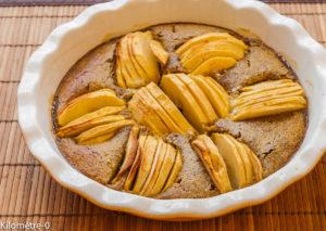 Photo de recette de gâteau pommes noisettes de Kilomètre-0, blog de cuisine réalisée à partir de produits locaux et issus de circuits courts