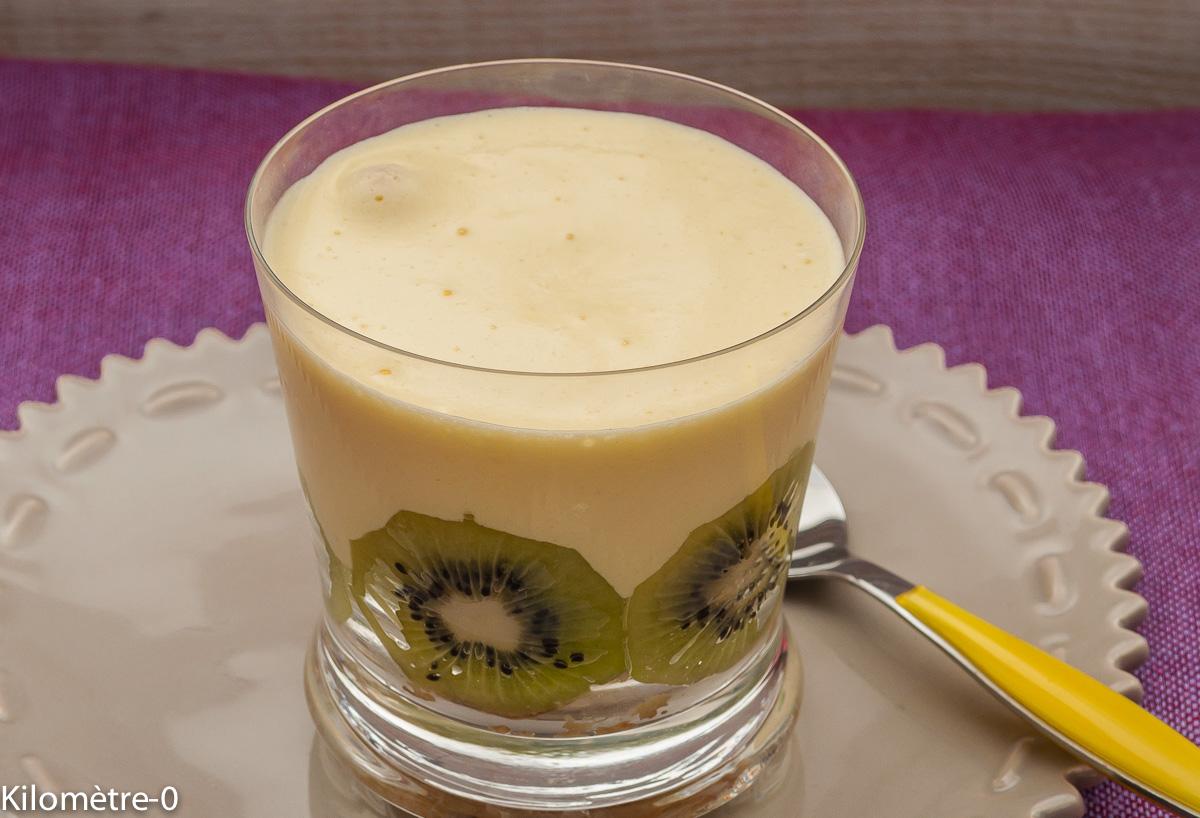 Photo de recette de tiramisu kiwi limoncello de Kilomètre-0, blog de cuisine réalisée à partir de produits locaux et issus de circuits courts