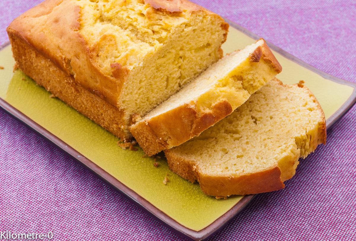 Photo de recette de gâteau du matin vanille de Kilomètre-0, blog de cuisine réalisée à partir de produits locaux et issus de circuits courts