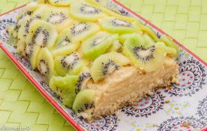 Photo de recette de flan coco au kiwis de Kilomètre-0, blog de cuisine réalisée à partir de produits locaux et issus de circuits courts