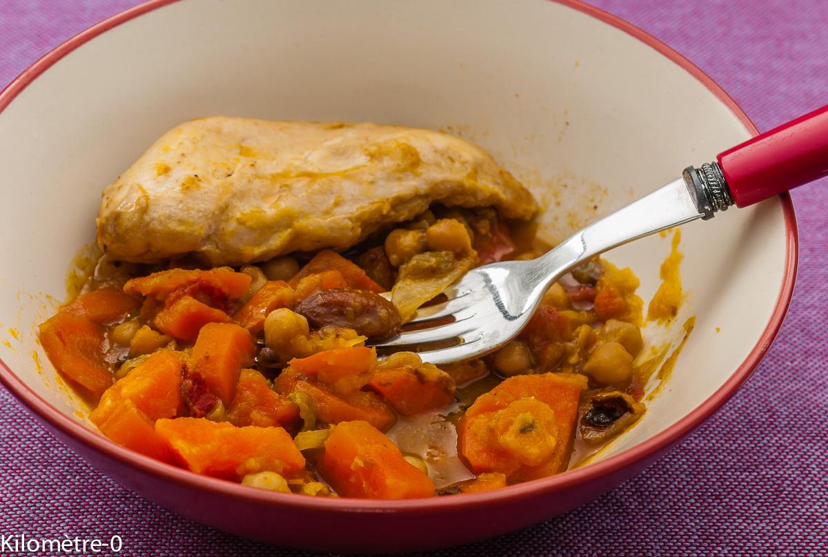 Photo de recette de poulet orientale de Kilomètre-0, blog de cuisine réalisée à partir de produits locaux et issus de circuits courts