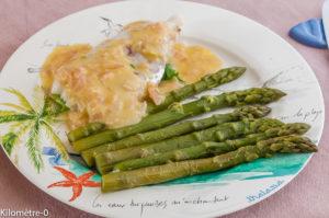 Photo de recette de merlu beurre blanc asperges de  Kilomètre-0, blog de cuisine réalisée à partir de produits locaux et issus de circuits courts