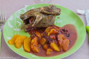 Photo de recette de pigeon orange sauce cassis de Kilomètre-0, blog de cuisine réalisée à partir de produits locaux et issus de circuits courts