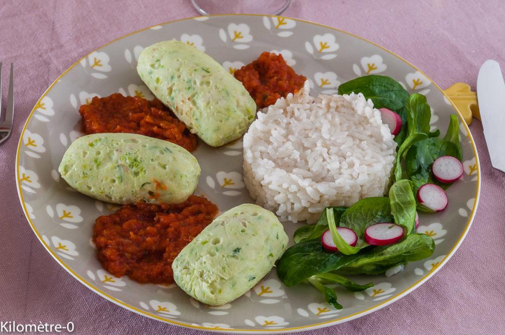 Photo de recette léger, facile, rapide, de quenelle merlu poireaux de Kilomètre-0, blog de cuisine réalisée à partir de produits locaux et issus de circuits courts