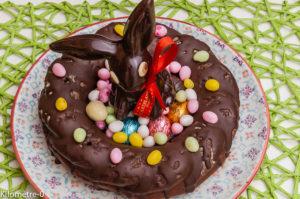 Photo de recette léger, facile, rapide de couronne de Pâques de Kilomètre-0, blog de cuisine réalisée à partir de produits locaux et issus de circuits courts