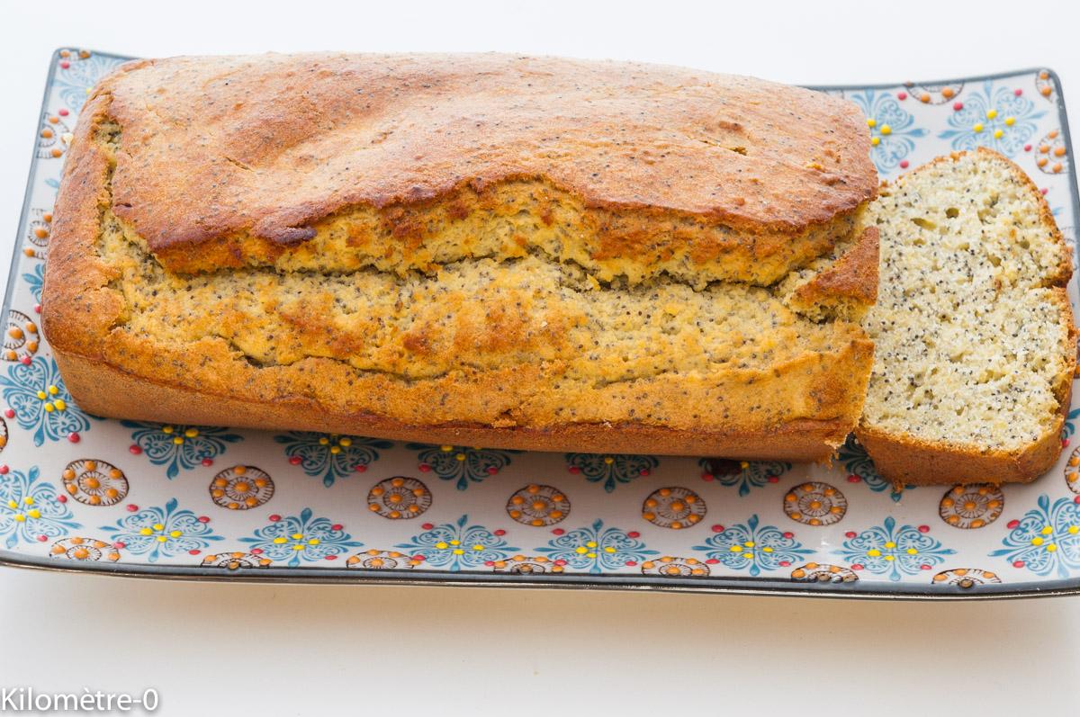Photo de recette léger, facile, rapide de gâteau du matin citron graines de pavot de Kilomètre-0, blog de cuisine réalisée à partir de produits locaux et issus de circuits courts
