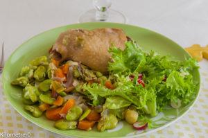 Photo de recette de  confit de canard aux fèves de Kilomètre-0, blog de cuisine réalisée à partir de produits locaux et issus de circuits courts