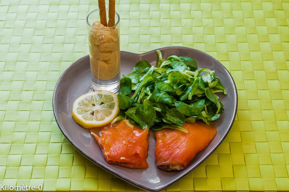 Photo de recette de truite fumée purée de pois chiche Kilomètre-0, blog de cuisine réalisée à partir de produits locaux et issus de circuits courts